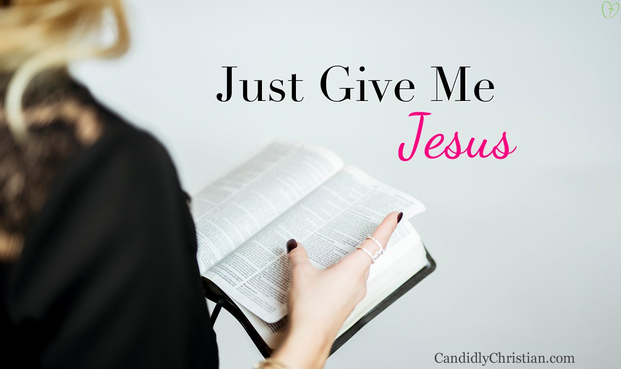 I don't need a miracle, just give me Jesus