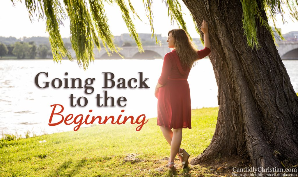 Back to the Beginning with Jesus