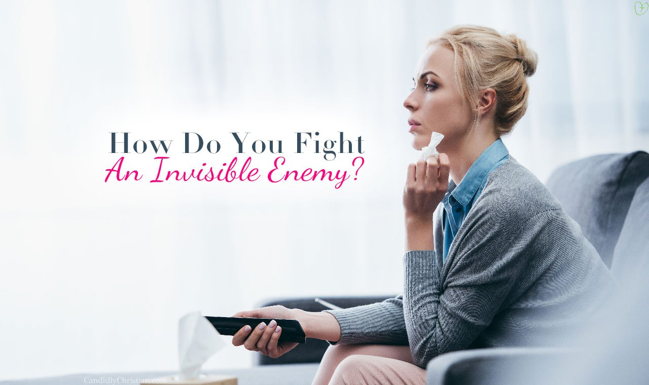 How do you fight an invisible moster?