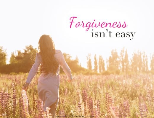 Forgiveness isn't easy