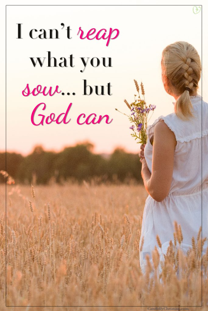 I can't reap what you sow, but God can...