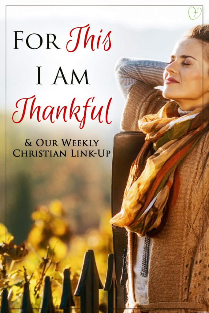 For this I am thankful... and our weekly Christian link-up