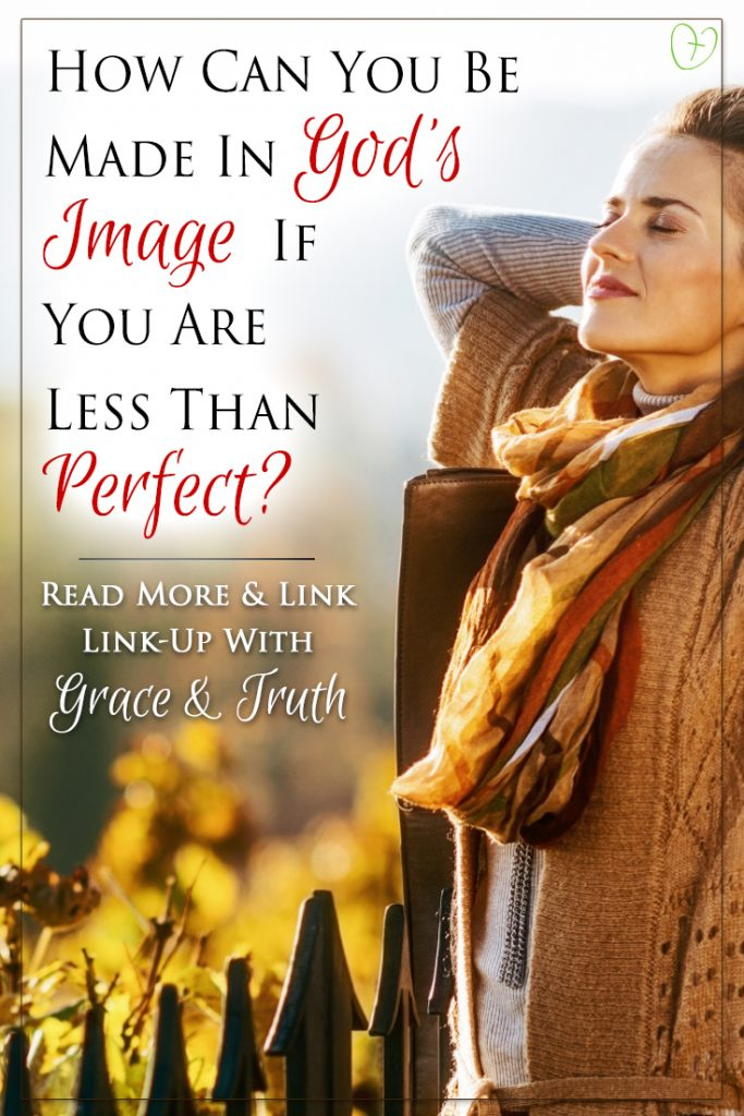 How can you be made in God's image if you are less than perfect?