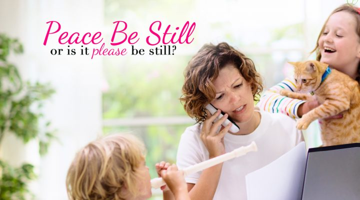 Peace Be Still: One Mom's Struggle to Overcome Yelling