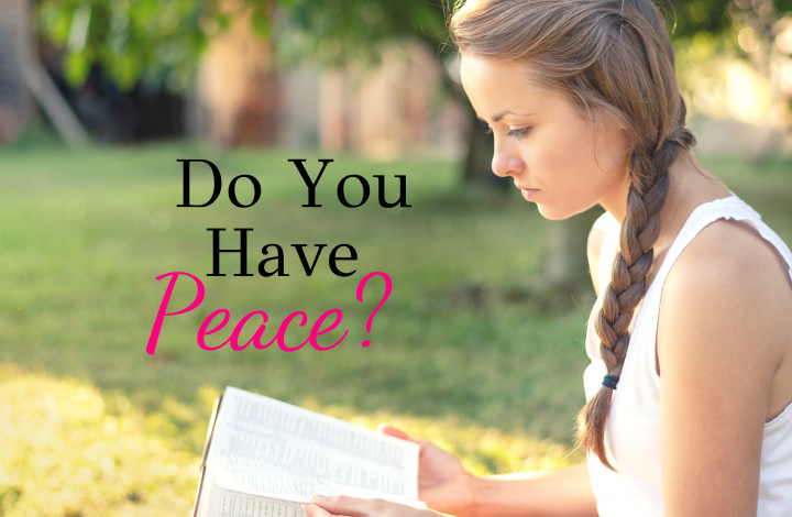 Do You have peace?